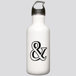 &, ampersand sign with shadow Water Bottle