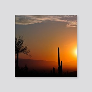 "Desert Sunrise Square Sticker 3"" x 3"""