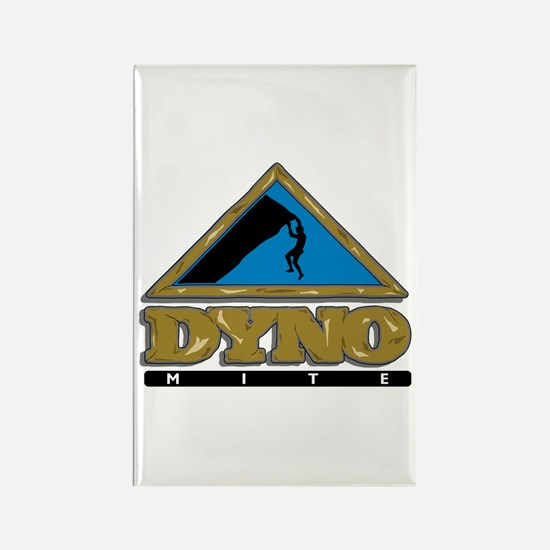 Dyno Mite Rock Climbing Graphic Rectangle Magnet