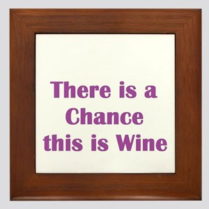 There is a chance this is wine Mug Framed Tile