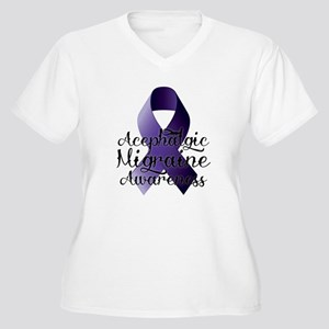 Acephalgic Migraine Awareness, Plus Size T-Shirt