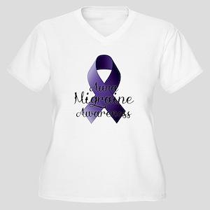 Aura Migraine Awareness Plus Size T-Shirt