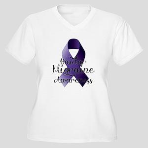 Basilar Migraine Awareness Plus Size T-Shirt