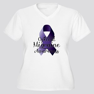 Optical Migraine Awareness Plus Size T-Shirt