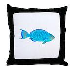 Blue Parrotfish f Throw Pillow