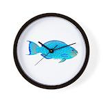 Blue Parrotfish f Wall Clock