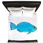 Blue Parrotfish f King Duvet