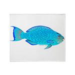 Blue Parrotfish f Throw Blanket