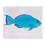 Blue Parrotfish f Throw Blanket