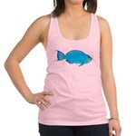 Blue Parrotfish f Racerback Tank Top