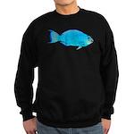 Blue Parrotfish f Sweatshirt