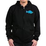 Blue Parrotfish f Zip Hoodie