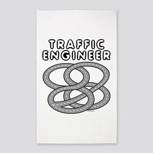 Traffic Engineer Interchange 3'x5' Area Rug