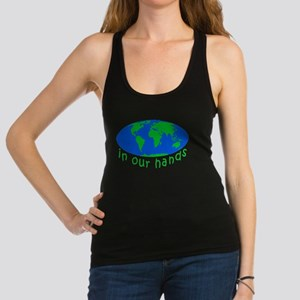 Earth In Our Hands Racerback Tank Top
