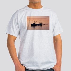 Net fishing at sunset T-Shirt