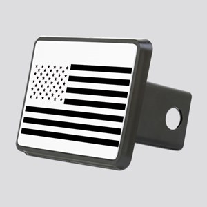 Black and White American Flag Hitch Cover