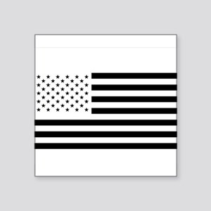 Black and White American Flag Sticker