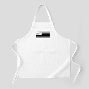 Black and White American Flag Apron