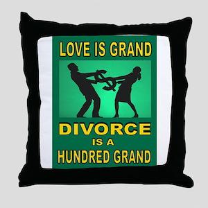 DIVORCE Throw Pillow