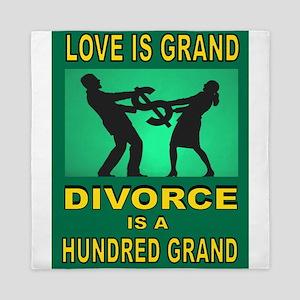 DIVORCE Queen Duvet