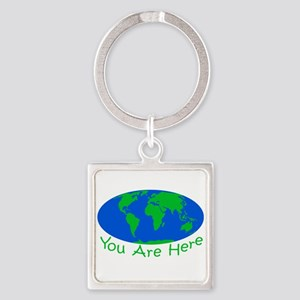 Earth Day You Are Here Keychains