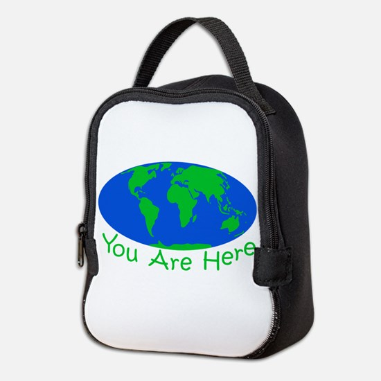 Earth Day You Are Here Neoprene Lunch Bag