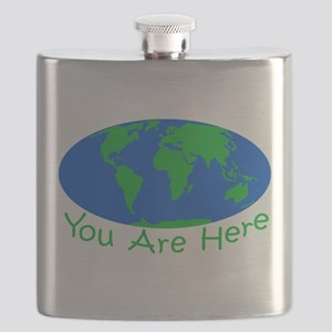 Earth Day You Are Here Flask