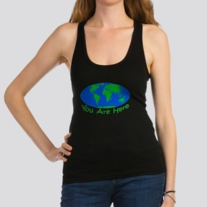 Earth Day You Are Here Racerback Tank Top
