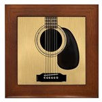Acoustic Guitar Square Framed Tile