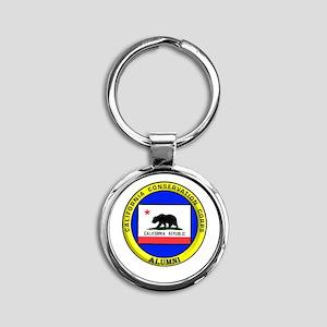 Alumni/Historic Round Keychain