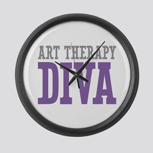 Art Therapy DIVA Large Wall Clock