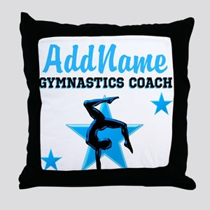 GYMNAST COACH Throw Pillow
