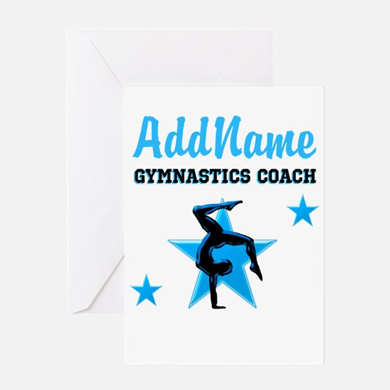 GYMNAST COACH Greeting Card