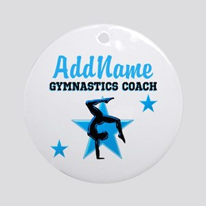GYMNAST COACH Ornament (Round)