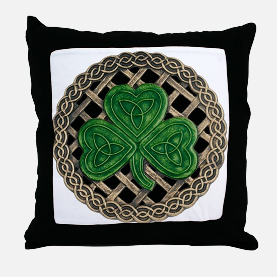 Shamrock And Celtic Knots Throw Pillow