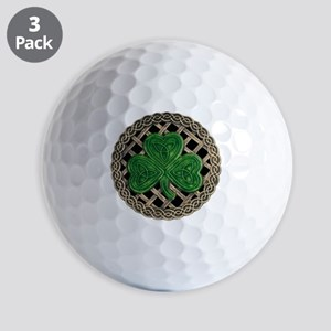 Shamrock And Celtic Knots Golf Ball