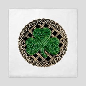Shamrock And Celtic Knots Queen Duvet