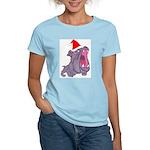 USMC Devil Dog Holiday Cheer Women's Pink T-Shirt