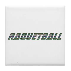 Raquetball Design Tile Coaster