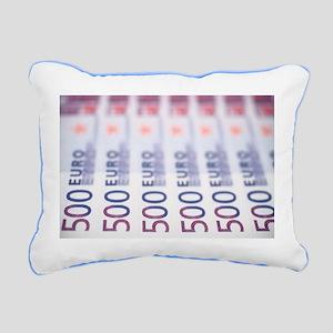 500 Euros Rectangular Canvas Pillow
