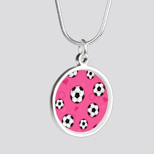 Cute Soccer Ball Print - Pink Necklaces