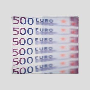 500 Euros Throw Blanket