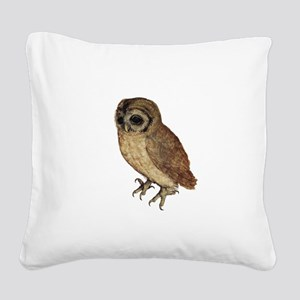 Little Owl by Durer Square Canvas Pillow