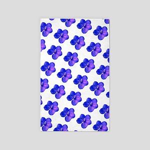 Blue Floral Sparkles 23 3'x5' Area Rug