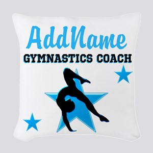 NUMBER 1 COACH Woven Throw Pillow