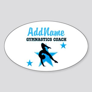 NUMBER 1 COACH Sticker (Oval)