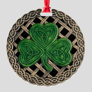Shamrock And Celtic Knots Ornament