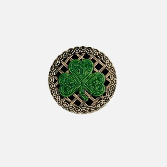 Shamrock And Celtic Knots Mini Button