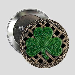 "Shamrock And Celtic Knots 2.25"" Button"