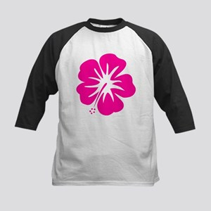 Hot Pink Hibiscus Baseball Jersey